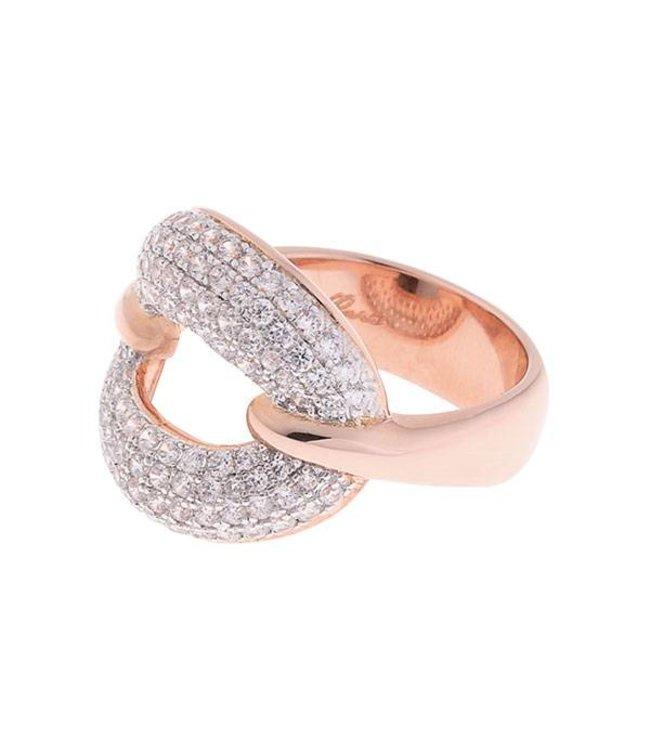 Bronzallure Ring Ovaal Zirkoon