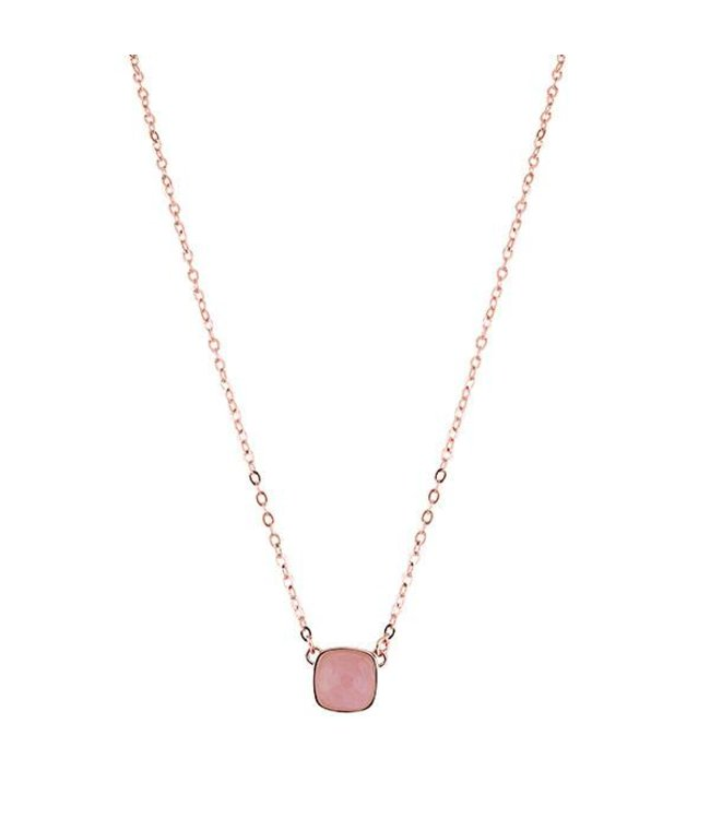 Bronzallure Halsketting Rose Quartz