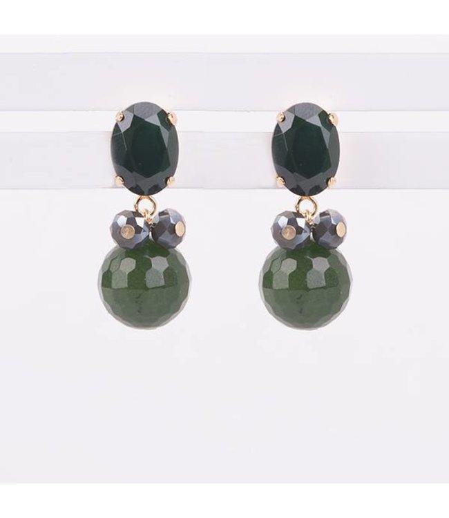 Souvenirs de Pomme Oorbellen Classic Charm Green