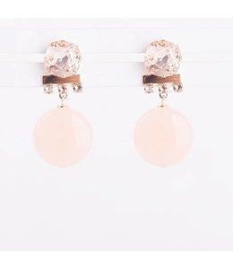 Souvenirs de Pomme Oorbellen Nude Silk Tulle