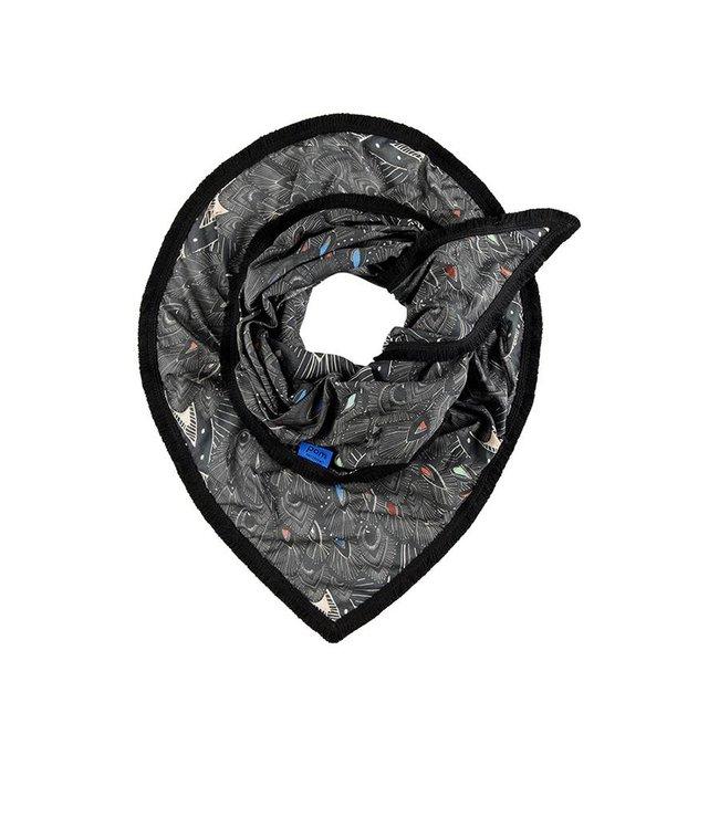 POM Amsterdam Sjaal Drifting Feathers Grey