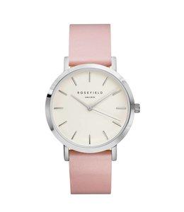 Rosefield Uurwerk Gramercy White Pink Silver