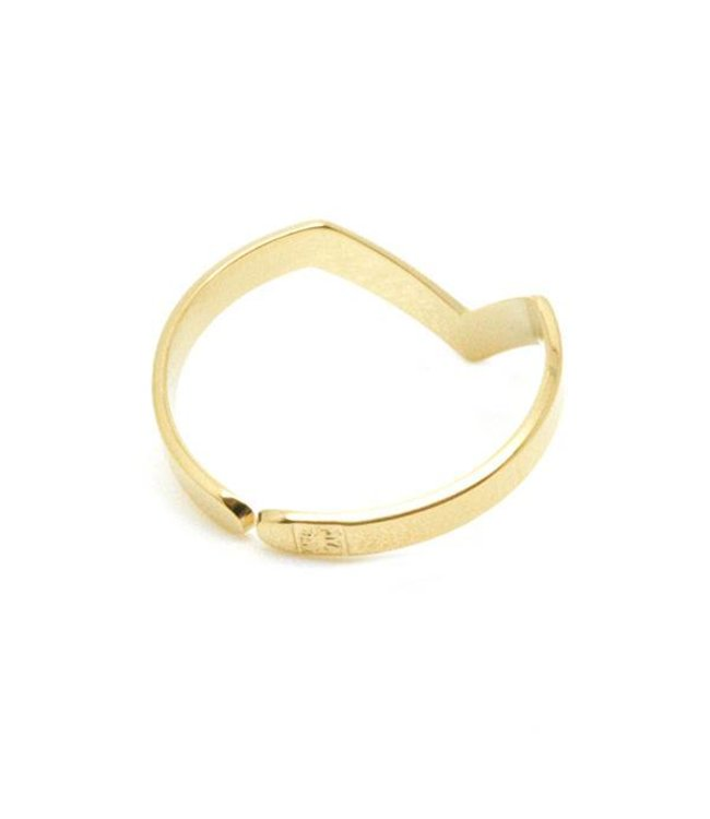 "Mya Bay Ring "" V-shaped"" Gold"
