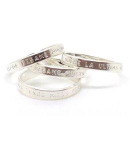 "Mya Bay Ring ""BESAME BESAME MUCHO"" Silver"