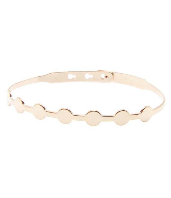 """Mya Bay Armband """" 7 circles"""" Pink Gold"""