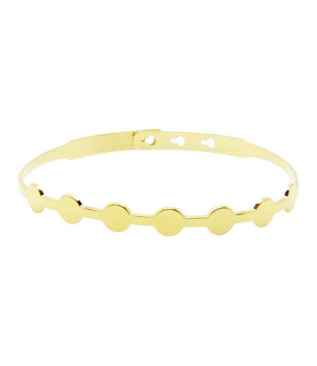 """Mya Bay Armband """" 7 circles"""" Gold"""