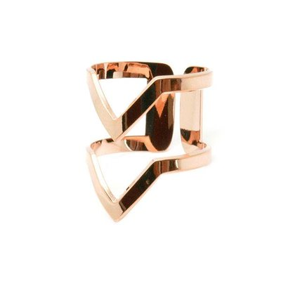 "Ring ""VV"" Pink Gold"