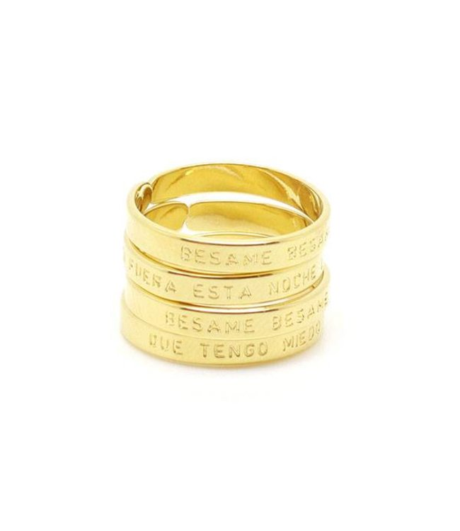 "Mya Bay Ring ""BESAME BESAME MUCHO"" Gold"