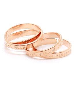 "Mya Bay Ring ""BESAME BESAME MUCHO"" Pink Gold"