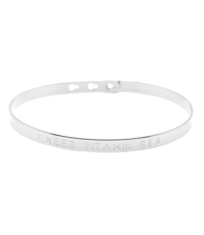 "Mya Bay Armband "" I NEED VITAMIN SEA"" Silver"