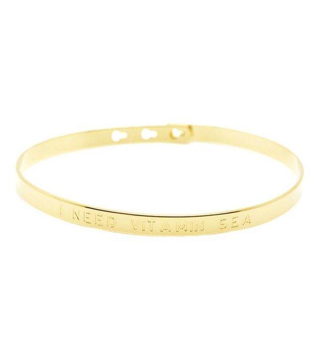 """Mya Bay Armband """" I NEED VITAMIN SEA"""" Gold"""