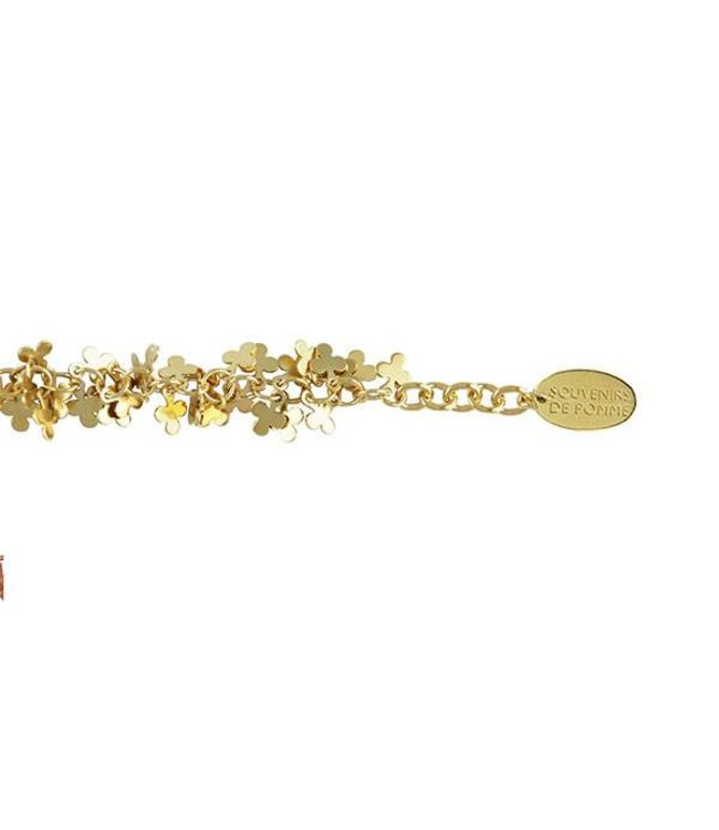 Souvenirs de Pomme Armband Clubs Bracelet Gold