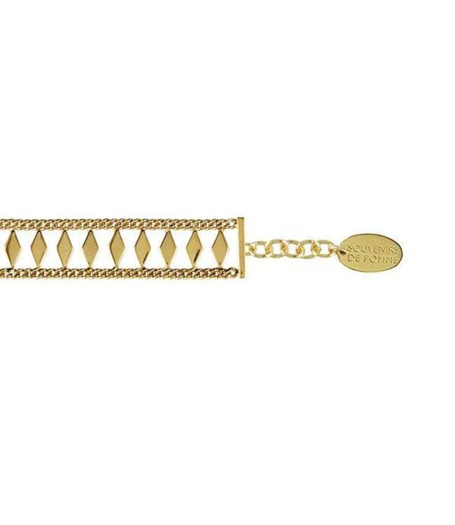 Souvenirs de Pomme Armband Circus Bracelet Gold