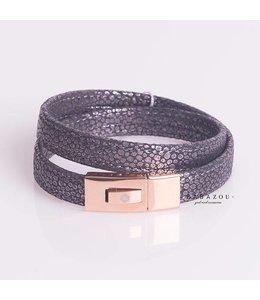 Qudo Armband Melissa Black Carbon