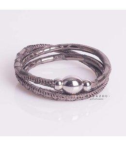 Qudo Armband Tender Monile Metal Silver