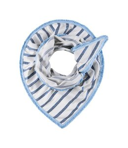 POM Amsterdam Sjaal Shimmering Stripes Blue 551