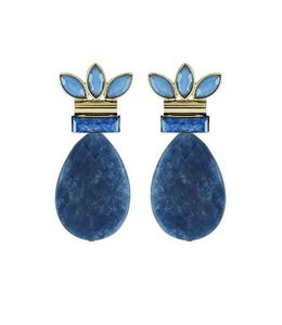 Souvenirs de Pomme Oorringen Blue Stiletto