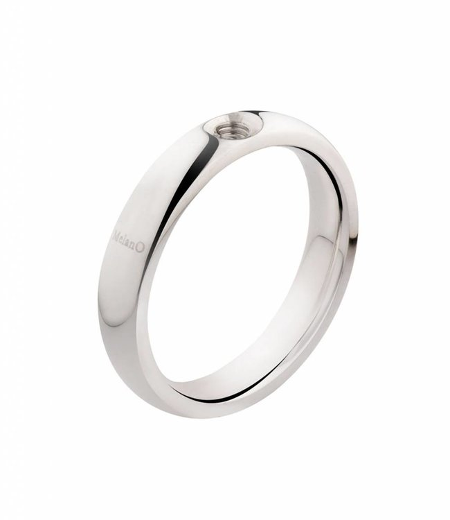 Melano Ring twisted zilver