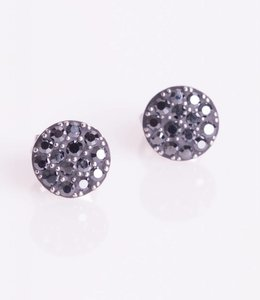 Phantasya Oorbellen Crystal Sphere Stud black