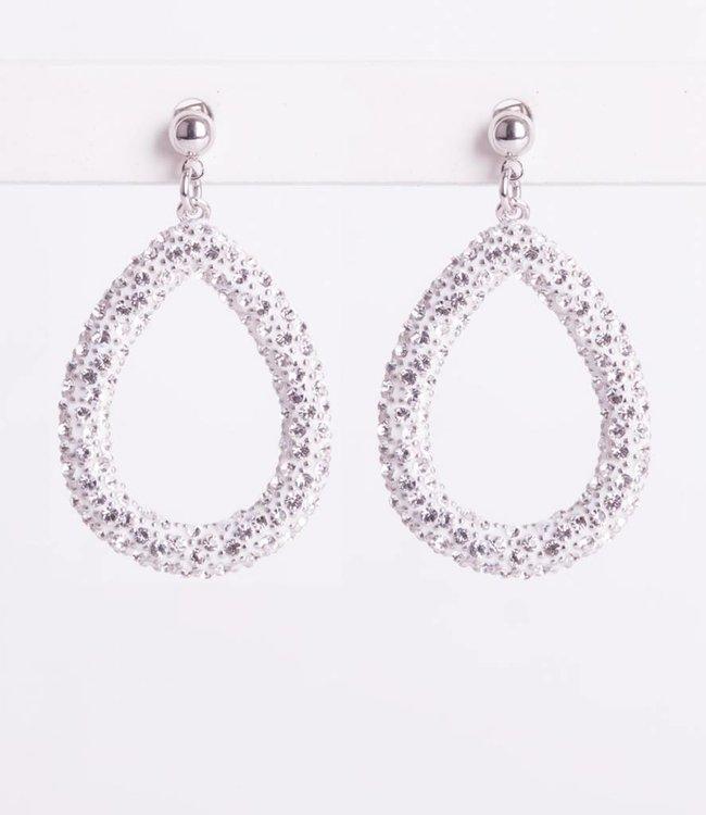 Phantasya Oorbellen Crystal Big Drop White