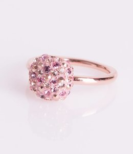 Phantasya Ring Crystal Square Pink