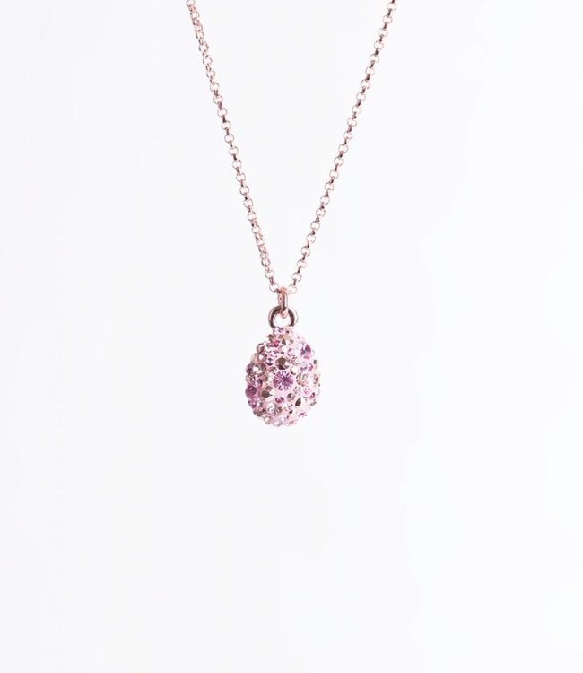 Phantasya Ketting Crystal Drop Pink