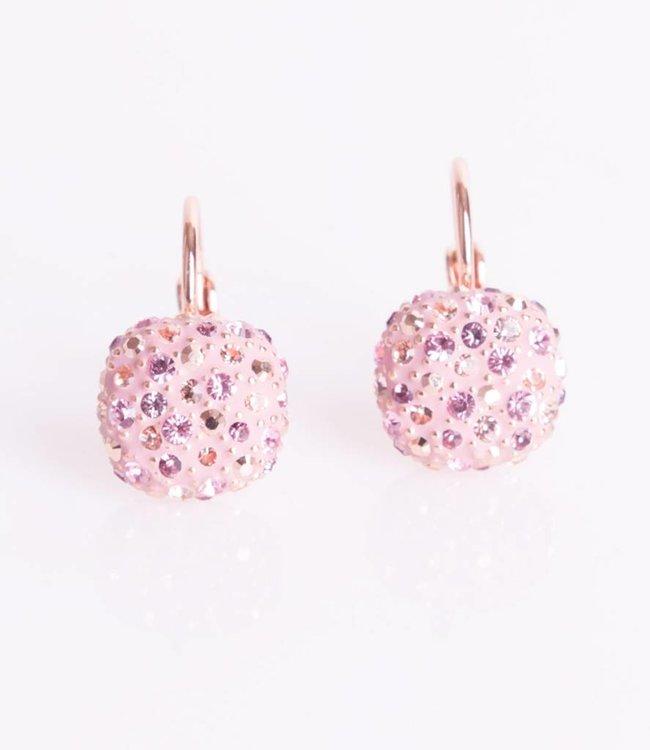 Phantasya Oorbellen Crystal Square Hook Pink