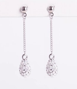 Phantasya Oorbellen Crystal Drop Stud White