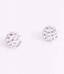Phantasya Oorbellen Crystal Sphere Stud White