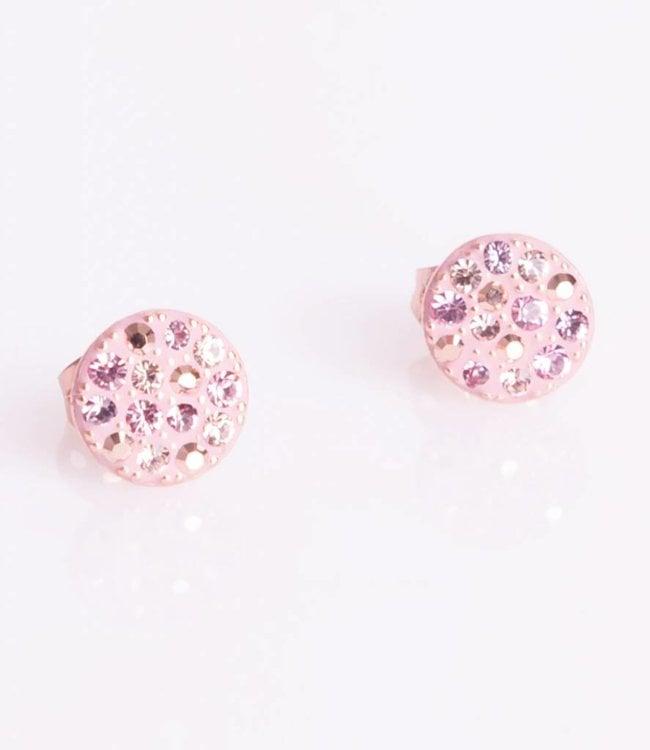 Phantasya Oorbellen Crystal Sphere Stud Pink