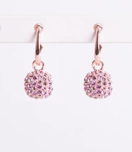 Phantasya Oorbellen Crystal Hook Pink