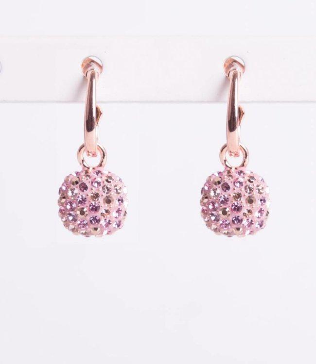 Phantasya Oorbellen Crystal Hook Pink
