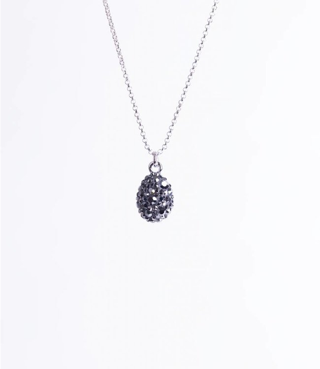 Phantasya Ketting Crystal Drop Black