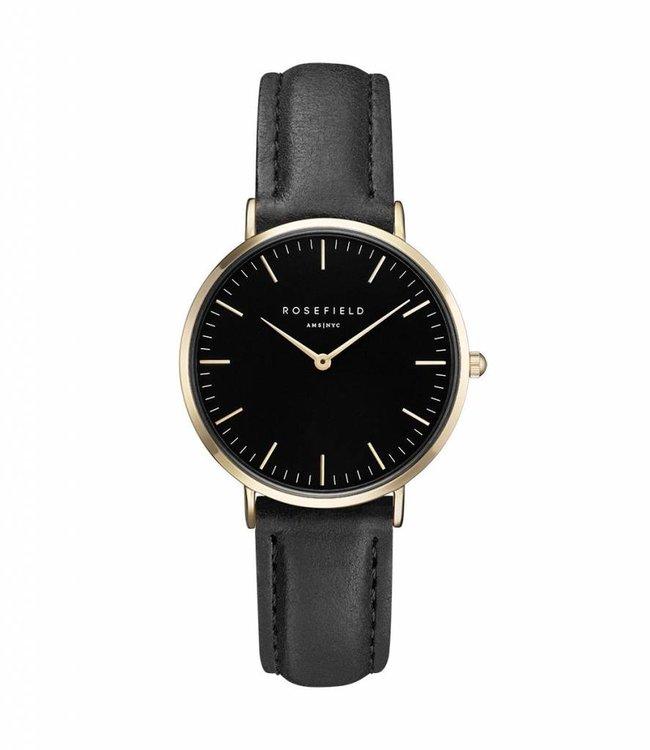Rosefield uurwerk Tribeca black black gold