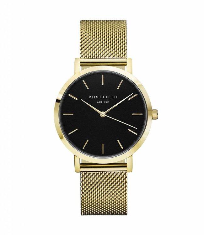 Rosefield uurwerk Mercer black gold