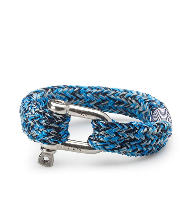 Pig & Hen Armband Fat Fred Blue Silver Navy