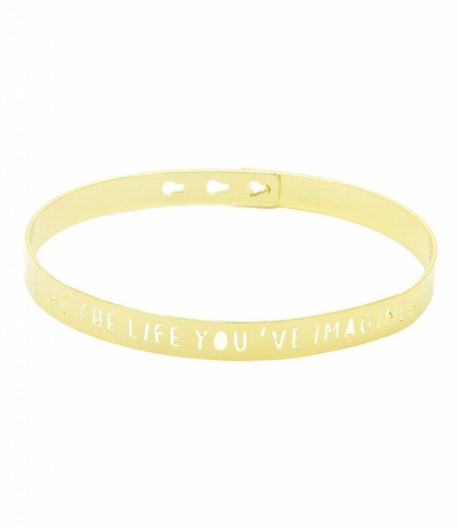 "Mya Bay Armband ""live the life you're imagine"" Gold"