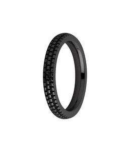 Melano Ring Sarah verfijnd gegraveerd zwart