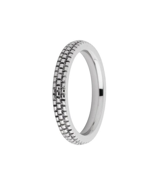 Melano Ring Sarah verfijnd gegraveerd zilver