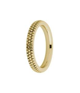 Melano Ring Sarah verfijnd gegraveerd goud