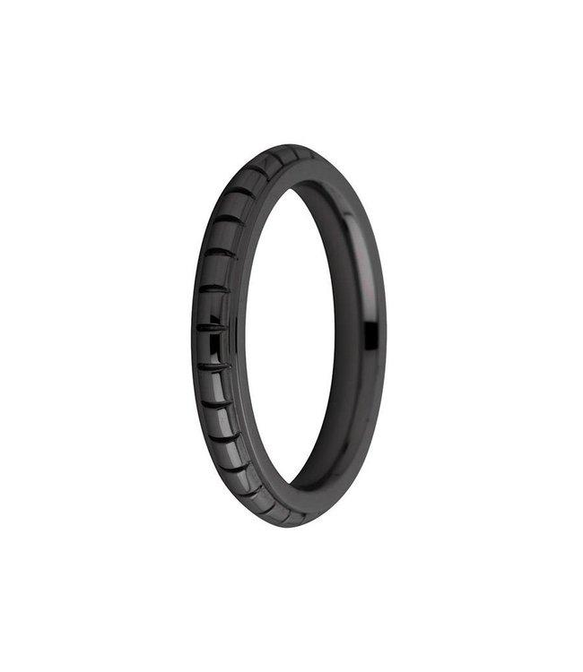 Melano Ring Sarah gegraveerd zwart