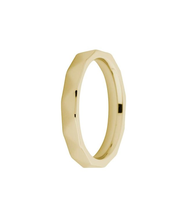 Melano Ring Sarah Facet Goud