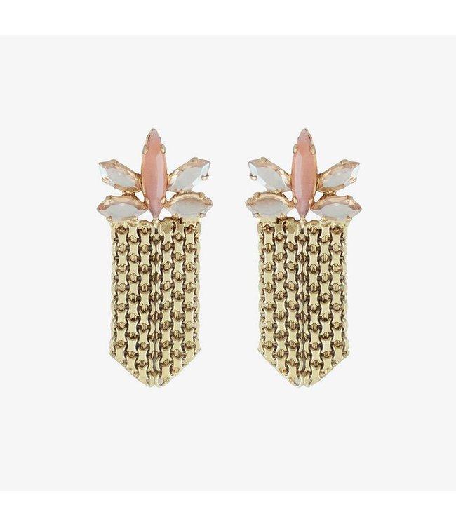 Souvenirs de Pomme Oorbellen Crown Soft Pink