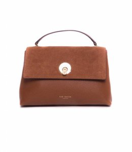 Ted Baker Suede Circle Lock Xbody Bag