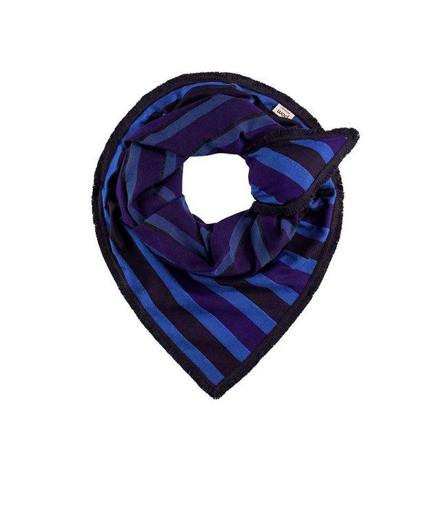 POM Amsterdam Sjaal Super Stripes Sapphire 519
