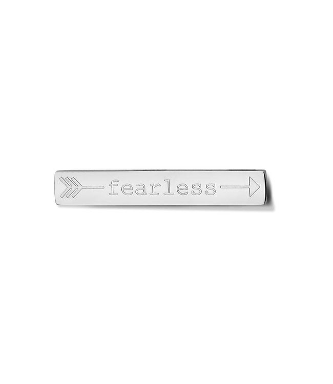 Take What You Need Bar Fearless silver toned