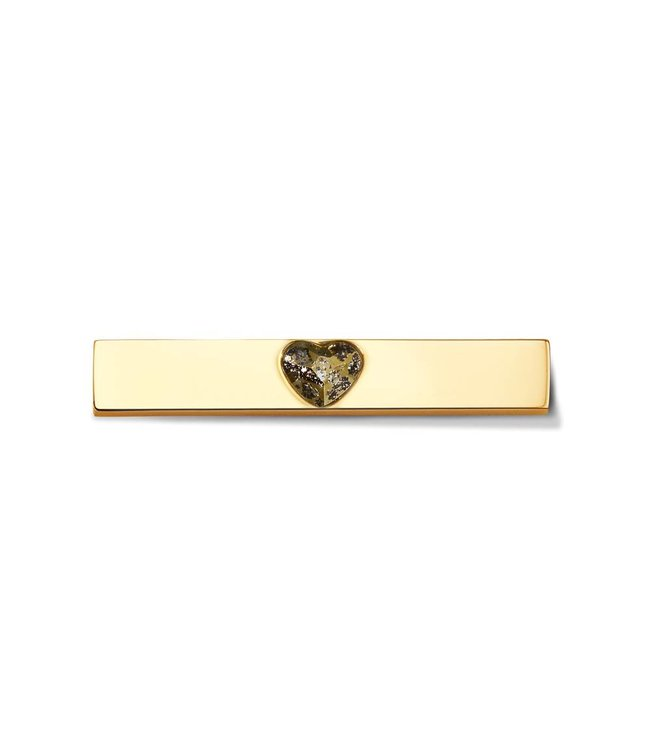 Take What You Need Bar Heart gold toned