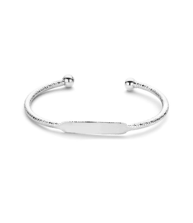 Take What You Need Sunset bangle silver toned