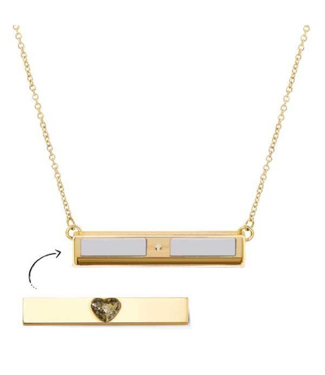 Take What You Need Necklace gold toned (no bar included)