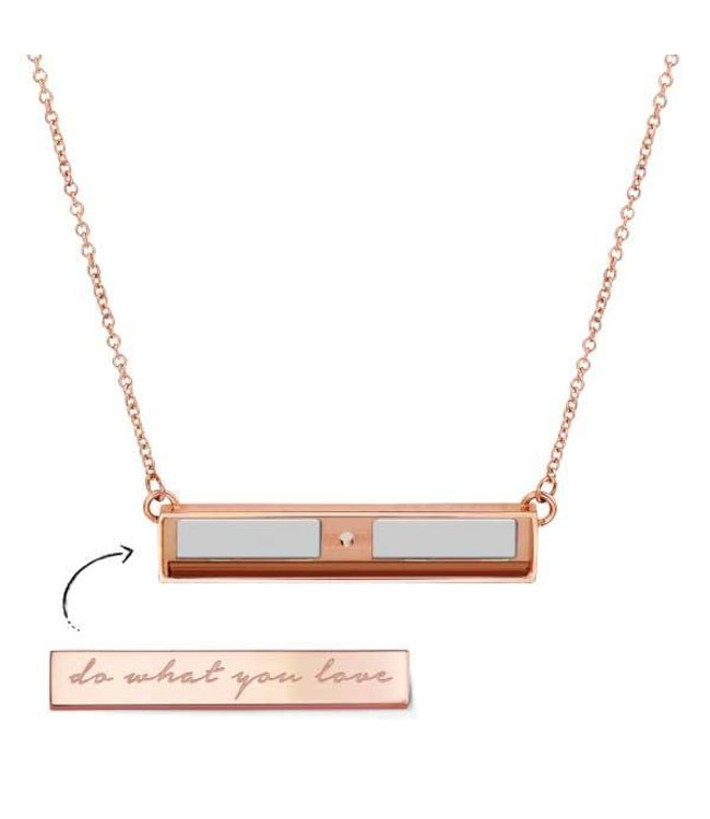 Take What You Need Necklace rosegold toned (no bar included